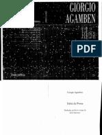 AGAMBEN, Giorgio - Idéia da prosa