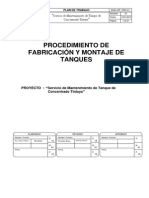 Plan de Fabricacion y Montaje Tanque de Concentrado Tintaya Coservis Rev. 01