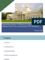 Diffusion Through PTFE