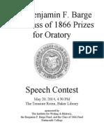 2014 Speech Contest Program for Web