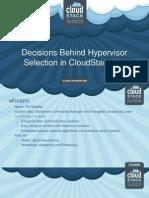 CloudStack Collab Hypervisor