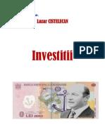 Investitii - Lazar Cistelecan