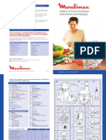 Moulinex Odacio 3 7 Food Processor Instructions and Recipe Guide