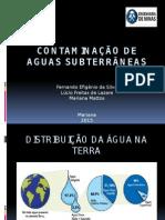 contaminação de aguas subterraneas