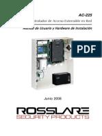 Manual Del Control de Acceso Rosslare AC 225 en Español