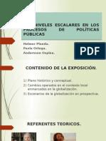 Los Niveles Escalares en Los Procesos de Políticas
