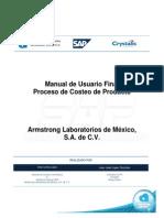 Manual de Usuario Proceso de Costeo Del Producto
