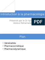 Intelligentsia- Cours d'Introduction de Pharmacologie
