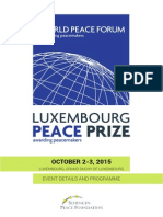 programme - Luxembourg Peace Prize 2015