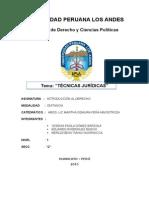 TECNICAS JURIDICAS