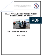 Plan de Gestion de Riesgo. Red -2015