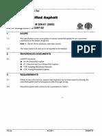 M 208-01 (2005) Cationic Emulsified Asphalt
