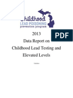 Childhood Lead Poisoning Prevention 2013 Data Report