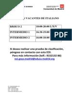 cartel vacantes italiano 2015-2016