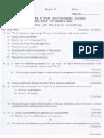 Calicut University BTech Solved Question Papers Sixth Cse Dec 05