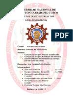 Informe de Mecanica des suelos