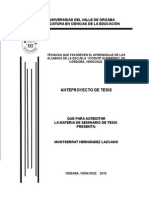 Anteproyecto-Tesis-Tecnicas de Enseñanza Montserrat Hernández L.