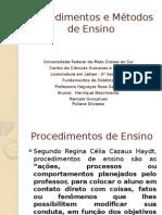 Procedimentos e Métodos de Ensino