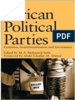 African Political Parties Evolution Institutionalisation and Governance