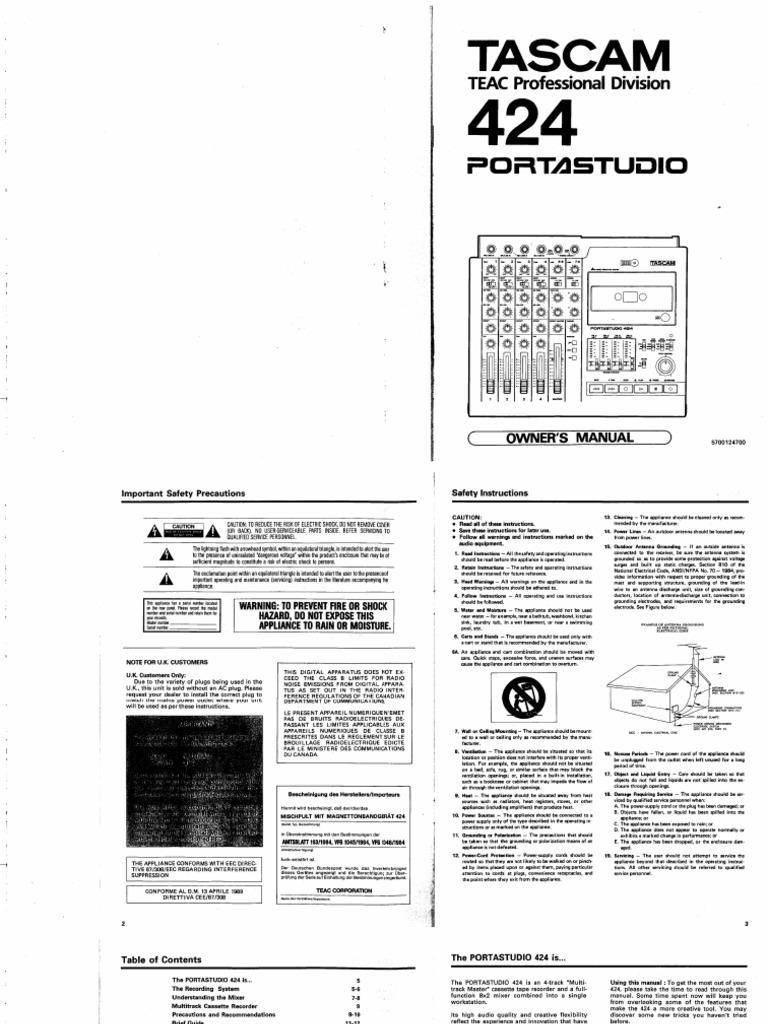 Tascam 424 mkii manual pdf lostvietnam.