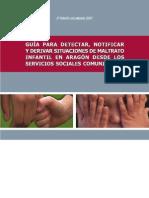 GUÍA MALTRATO INFANTIL, Instituto Aragonés de Servicios Sociales