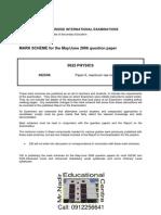 Ms Physics Paper 6 JUN 2006 PDF