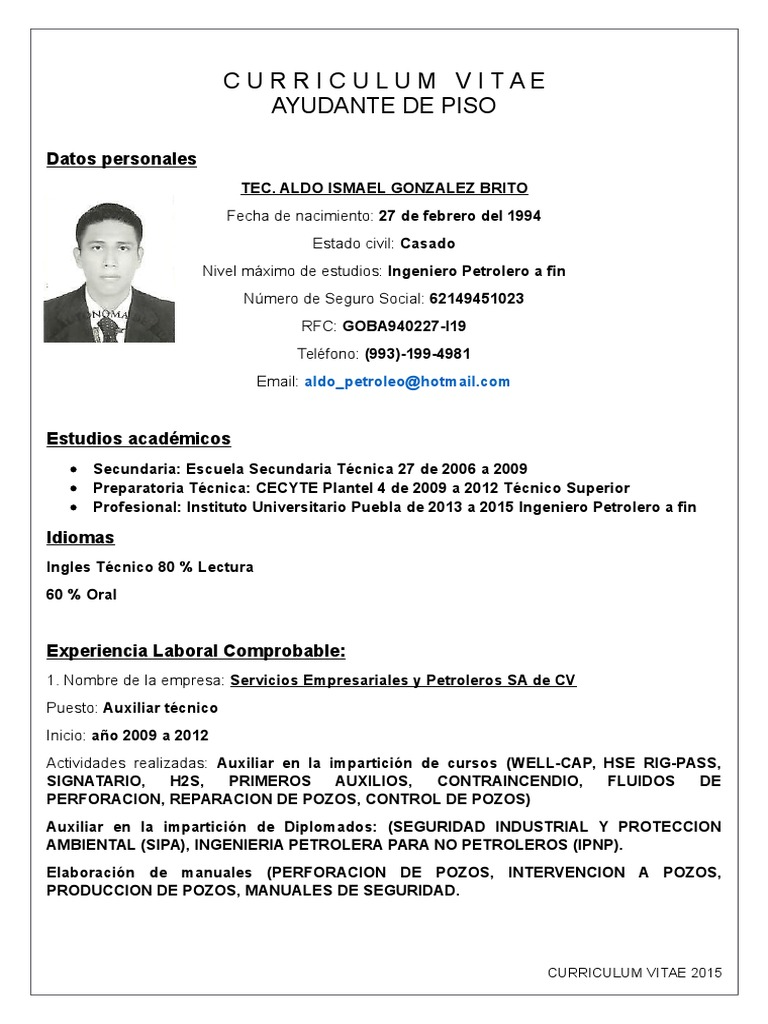 Aldo Ismael Gonzalez Brito
