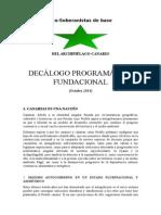Eco Soberanistas Decálogo
