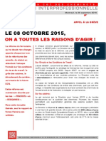 Action Interprofessionnelle 08 octobre