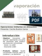 Evaporación. Operaciones Unitarias