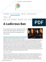 A Ludicrous Ban — the Centre for Internet and Society
