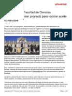 Alumnos de La Facultad de Ciencias Agronomicas Idean Proyecto Para Reciclar Aceite Comestible 11042011 PDF 35 Kb (1)