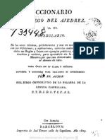 Diccionario Del Juego Del Ajedrez(1825)-José Torner
