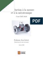 Introduction a La Mesure Et a La Mecatronique