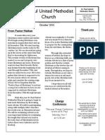 church oct 2015 newsletter