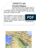 O Direito Na Mesopotamia Datashow