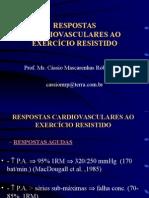 Ms Cássio Mascarenhas - Respostas Cardiovasculares e Exercício