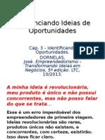Diferenciando Ideias de Oportunidades