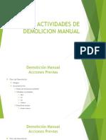 Actividades de Demolicion Manual
