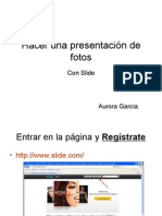 Hacer una presentación de fotos