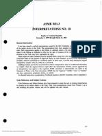 ASME B31.3 Interpretation