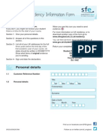 Sf Uk Residency Information Form 1516 d