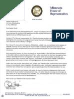 House DFL Leader Paul Thissen letter to Speaker Daudt