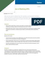 Gartner - The Business Value of Banking APIs