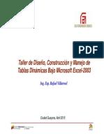 Taller Tablas Dinámicas - Excel 2003