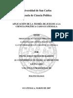 Aplicación de La Teoría de Juegos a La Ciencia Política Caso Guatemala