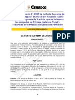 Acuerdo 23-2010 Que Abroga El Acuerdo 21-2010