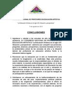 Conclusiones i Congreso Nacional de Profesores en Educación Artística (1)