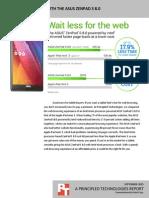Browsing websites with the ASUS ZenPad S 8.0