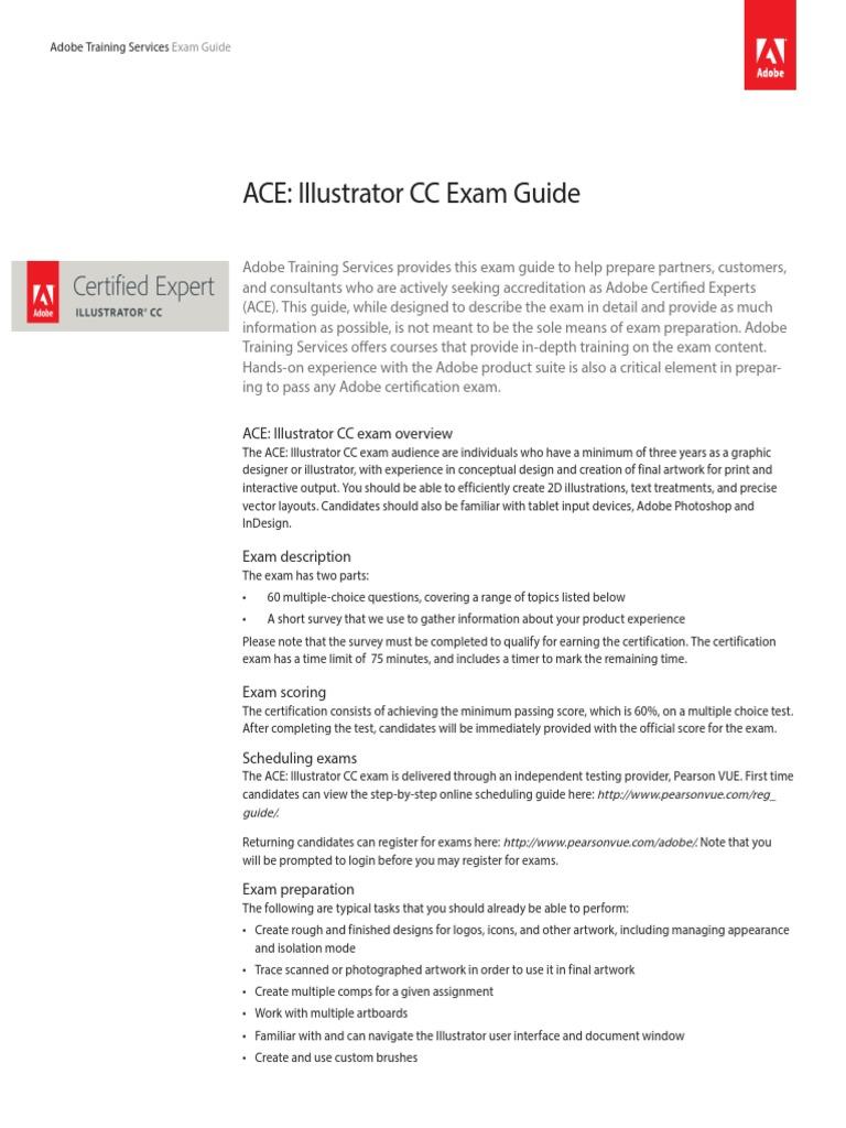 Sample Exam Ace Adobe Certified Adobe Illustrator Graphics